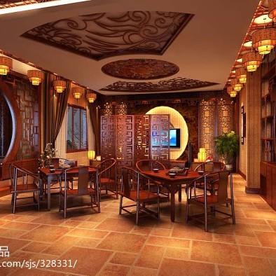 中式别墅会所设计