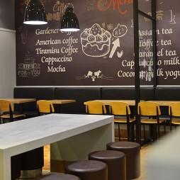 快餐店手绘墙装修设计