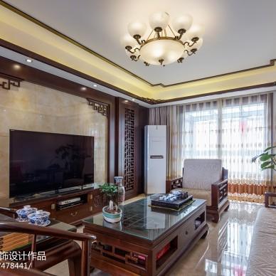 古典中式客厅电视背景墙效果图