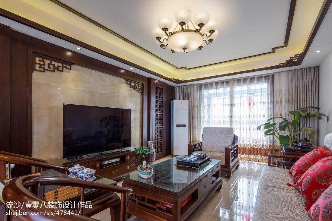 中式电视背景墙效果图_古典中式客厅电视背景墙效果图 – 设计本装修效果图