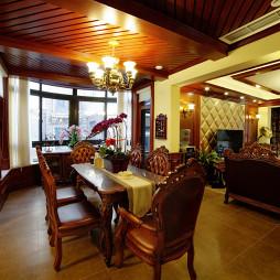 美式餐厅吊顶别墅设计
