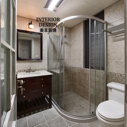 简约美式卫生间淋浴装修图片