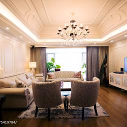 美式混搭风格客厅设计