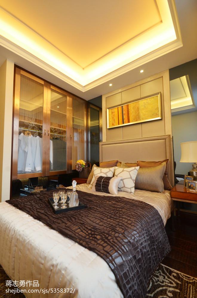 美式卧室背景墙样板房设计
