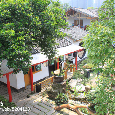 株洲晴溪庄园:生态园林餐厅_2101222
