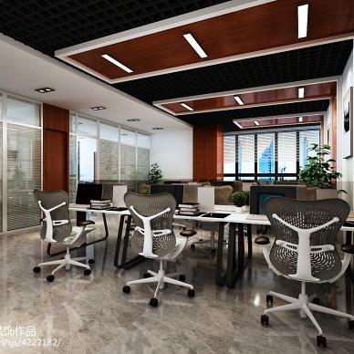 郑州升龙又一城300平现代风格办公室装修效果图_2101565
