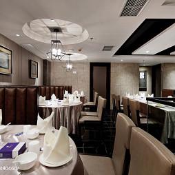 现代风格中餐厅吊顶装修