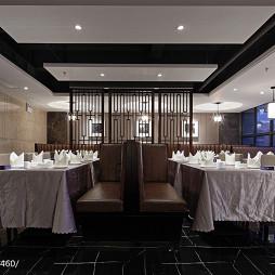 現代風格中餐廳屏風隔斷設計