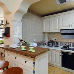 混搭风格厨房仿古砖装修效果图
