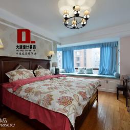 美式卧室飘窗装修设计