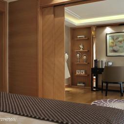 现代别墅衣帽间样板房设计图片