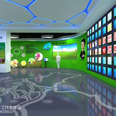 淘宝绿色食品展厅设计_2108360