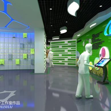 淘宝绿色食品展厅设计_2108361