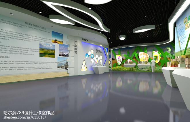 淘宝绿色食品展厅设计_2108367