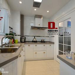 清新美式厨房装修设计效果图