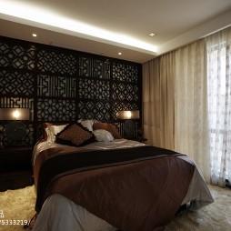 现代中式卧室样板间室内设计