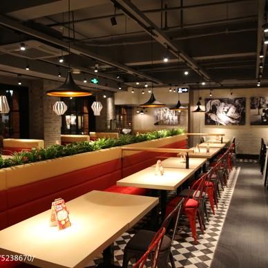 中餐厅卡座隔断设计
