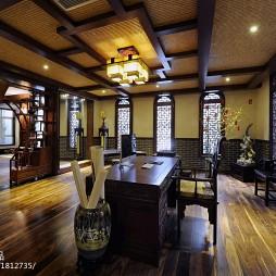 中式别墅书房博古架设计