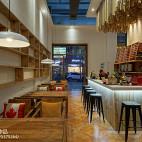 现代时尚LOFT咖啡厅设计效果图
