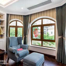 新古典风格书房窗台设计