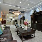 美式错层客厅设计