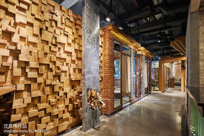 火锅餐饮店走廊装修设计