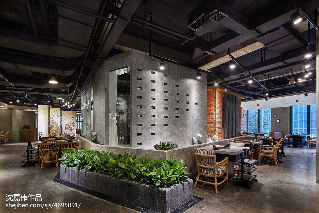火锅餐饮店吊顶设计