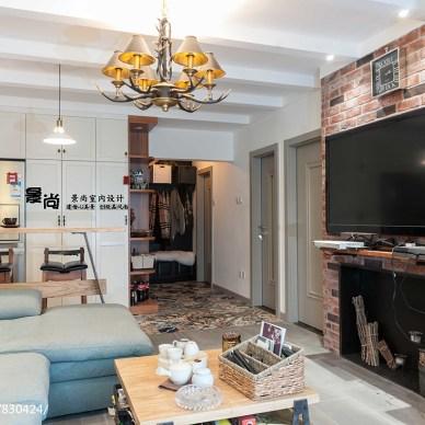 二居室北欧风格客厅电视墙装修效果图
