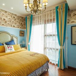 混搭风格别墅卧室设计效果图图片