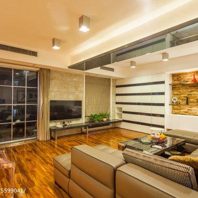 低调奢华现代客厅设计效果图