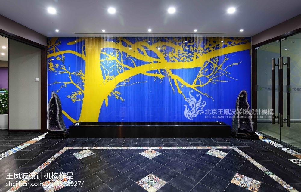 办公空间文化墙装修效果图片