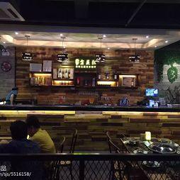深圳全蒸教海鲜音乐餐厅收银台设计