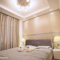 三居室北欧卧室窗帘装修效果图
