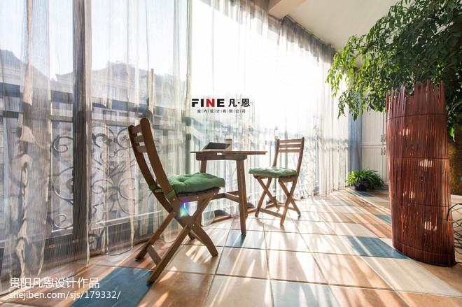 三居室美式阳台效果图