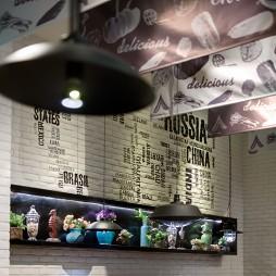时尚的渔农餐厅壁纸设计