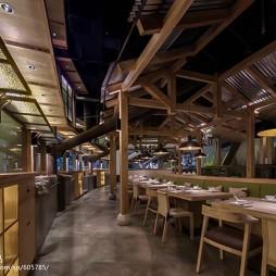 公装典雅餐饮空间过道设计