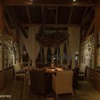 公装典雅餐桌包厢设计图装修