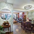 别墅豪宅中式餐厅吊顶效果图