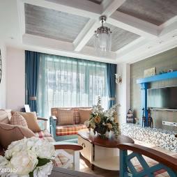 170㎡地中海风格客厅吊顶装修效果图