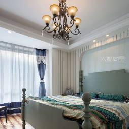 170㎡地中海风格卧室装修效果图
