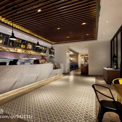 深圳LE乐咖啡时尚轻食主义餐厅设计实景照