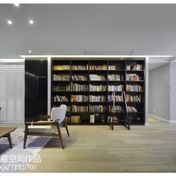 简单大方现代客厅书柜装修效果图
