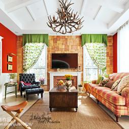 美式乡村客厅装修设计欣赏