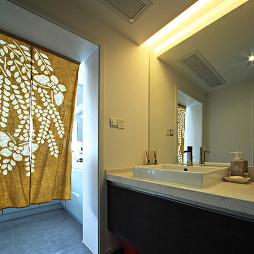 复式现代洗手间设计