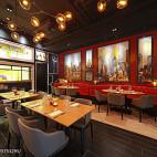 上海DV西餐厅背景墙设计