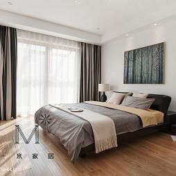 简单现代卧室落地窗设计
