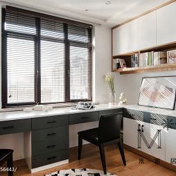 简单现代书房组合书桌设计