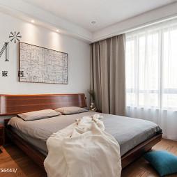 简单现代卧室窗帘效果图