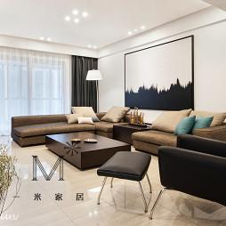 简单现代客厅沙发背景墙设计