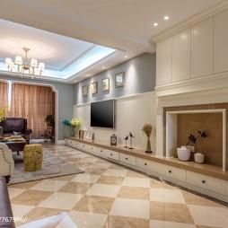 欧式客厅墙壁矮柜装修效果图
